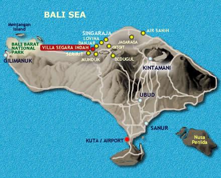 Location map villa Segara Indah Bali